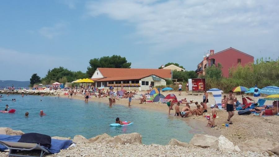 Primosten south nudist beach